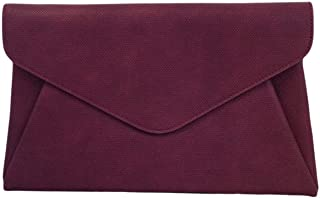 Synthetic Leather Double Pocket Envelop Clutch