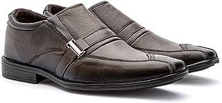 Sapato Social bico quadrado Café