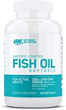 Optimum Nutrition Omega 3 Fish Oil, 300MG, Brain Support Supplement, 100 Softgels (Packaging May Vary)