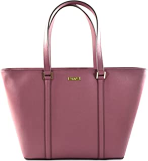 Kate Spade Jules Newbury Lane Saffiano Leather Large Tote Shoulder Bag Purse Handbag, Plum Berry