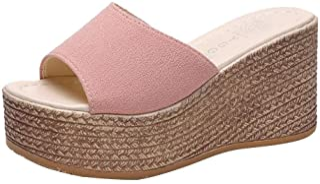 Kenmeko Pantofole Donna Sandali con Plateau Zeppa Tacco Alto Scarpe comode per Il Tempo Libero