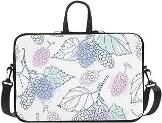 Patterns with Mulberry Fruits Pattern Briefcase Laptop Bag Messenger Shoulder Work Bag Crossbody Handbag for Business Travelling