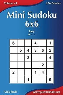 Mini Sudoku 6x6 - Easy - Volume 44 - 276 Puzzles