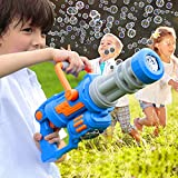 Gatling Bubble Gun for Toddlers Bubble Machine 2021 Automatic 5 Holes Bubbles Maker with Music and Light