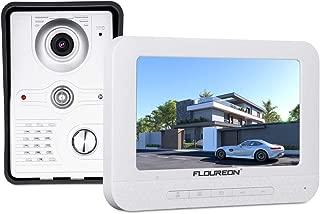 FLOUREON Videoportero Timbre Interphone Security Intercom System con 7 pulgadas Color TFT LCD Monitor y IR LED Cámara de visión nocturna para casas privadas, villas, oficinas, hoteles