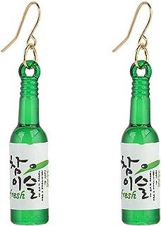 XIAOGINGV Bottiglia di Birra Orecchini Donne alla Moda del Pendente della Bottiglia Hook Orecchini Discoteca del Partito d...