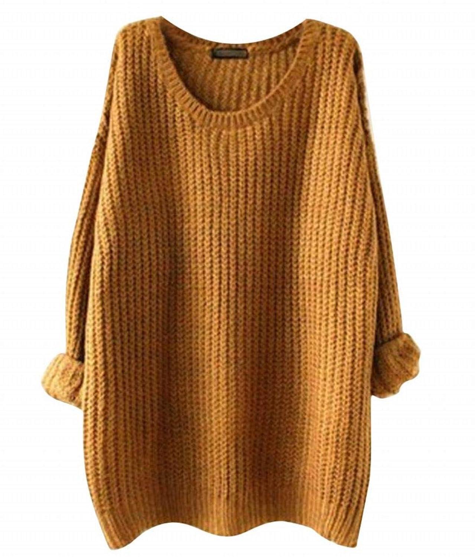 Plus Nao(プラスナオ) ニット レディース チュニック丈 おおきい お尻 隠れる かわいい 可愛い 無地 あたたかい 長袖 トップス ゆったり 秋