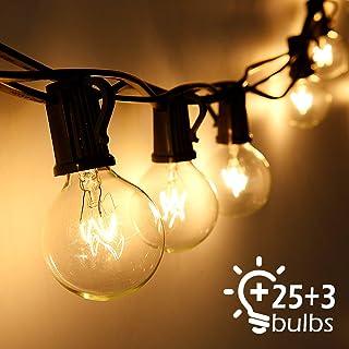 Cadena de Luces, Qomolo G40 Exterior Guirnalda Luces Con 25
