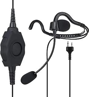 COODIO 2-Pin Midland Radio Auriculares [PTT Robusto Grande] Micrófono Auricular [Cancelación de Ruido] Seguridad y Bodyguard para Midland Radio