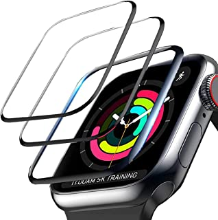3-Pack Ceomate Screen Protector for Apple Watch Series 6/Se/5/4 44mm, 3D Curve with Black Edge Anti-Scratch Anti-Bubble Ul...