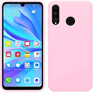 Matte Plastic Flexible Protection Cover, Smooth, Soft TPU Case for Huawei P30 Lite (Light Pink)