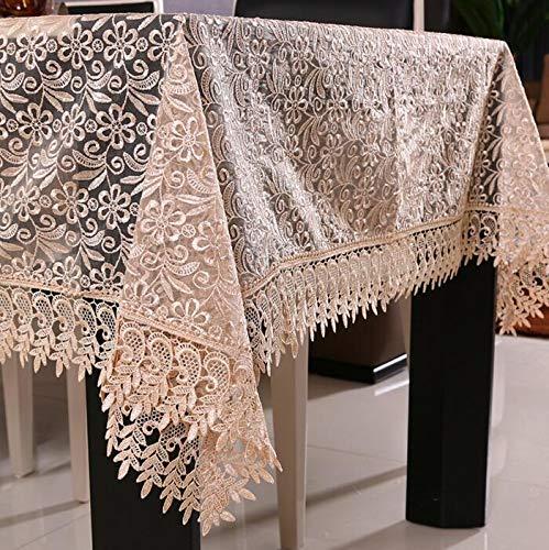 DDDCM Rose Mantel de Encaje Blanco Cubierta de Tabla decoración de la Boda translúcido Mantel Bordado decoración de la Mesa de café Mantel de Mesa en casa