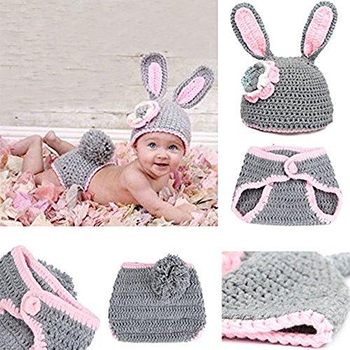 Bébé nouveau-né nourrisson garçon fille tricot Crochet Costume photographie photographie Prop Outfit