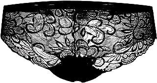 سراويل داخلية نسائية مثيرة عالية المرونة مجوفة للخارج سراويل داخلية مثيرة للنساء الإناث ملابس داخلية جيدة التهوية (المقاس:...