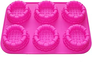 X-Haibei Shortcake Baskets Cake Pie Pan CupCake Muffin Jello Soap Silicone Mold Bakeware Tray