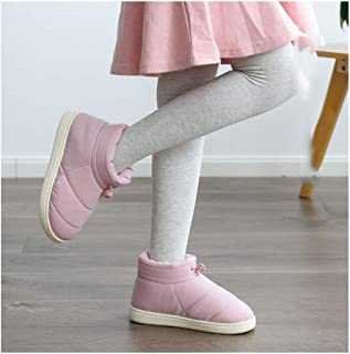 Winter Fur Shoes Men's Bag with Cotton Slippers Large Size Household Non-Slip Warm Cotton Shoes,Pink,40/41