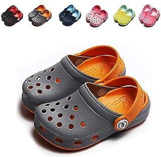 YUKIOVERLY Kids Boys Girls Comfort Clogs Lightweight Water Pool Garden Shoes Cute Slip On Summer Slippers (Toddler/Little Kids)