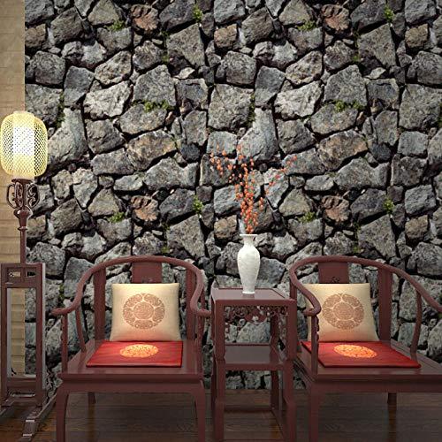Papel pintado de piedra de imitación de rocas estéreo 3D para paredes sala de estar TV sofá Hotel papel de pared de fondo rollo de papel de pared impermeable de PVC