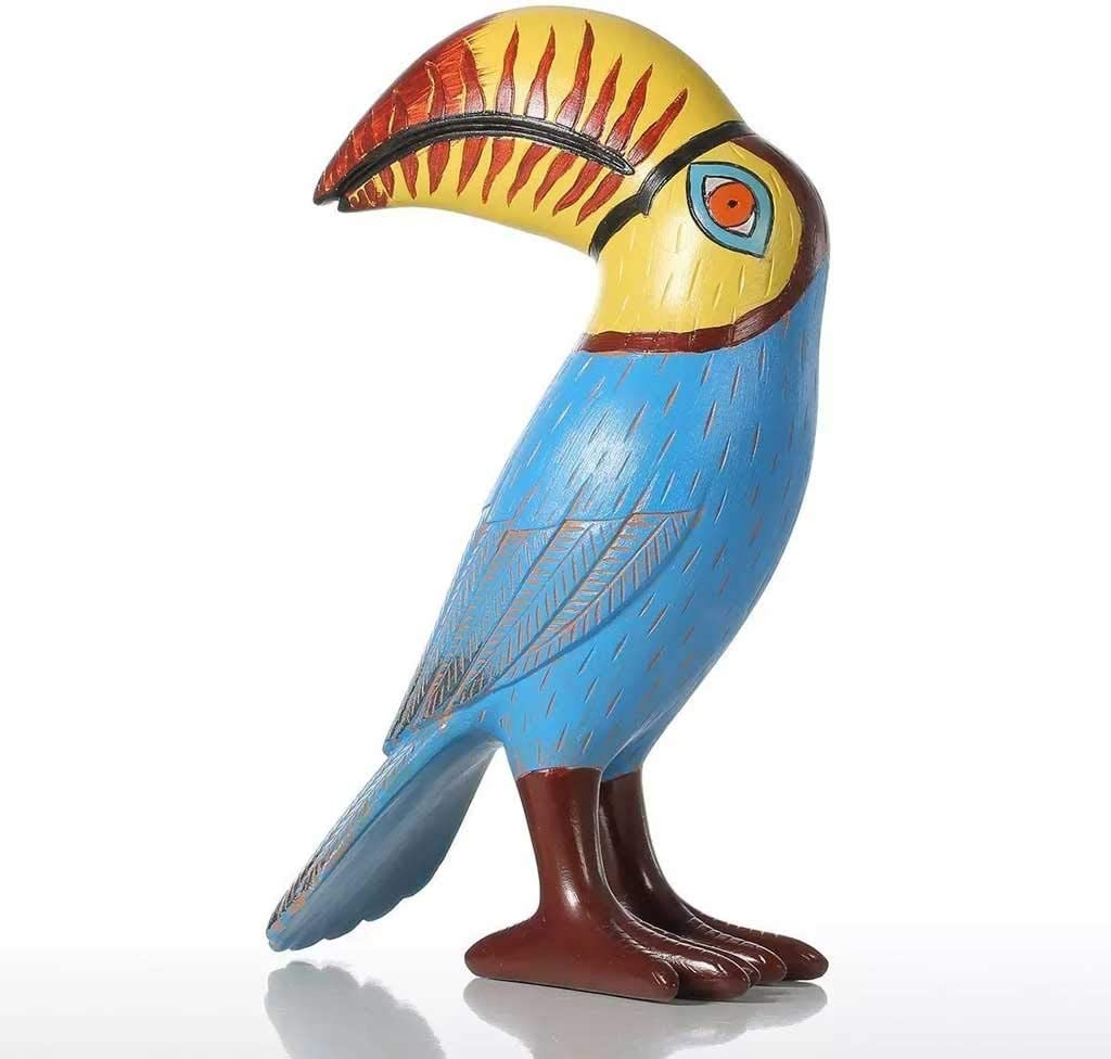 JJSPP Big Mouth Toucan Bird Resin Sculpture Fiberglass Ornament