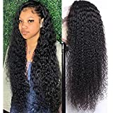 8-40Inch 13x4 Lace Front Wigs Human Hair Long Remy Brazilian Kinky Curly Lace Frontal Wig 150% Pre Plucked Natural Color (30inch, 13x4 lace front wigs)