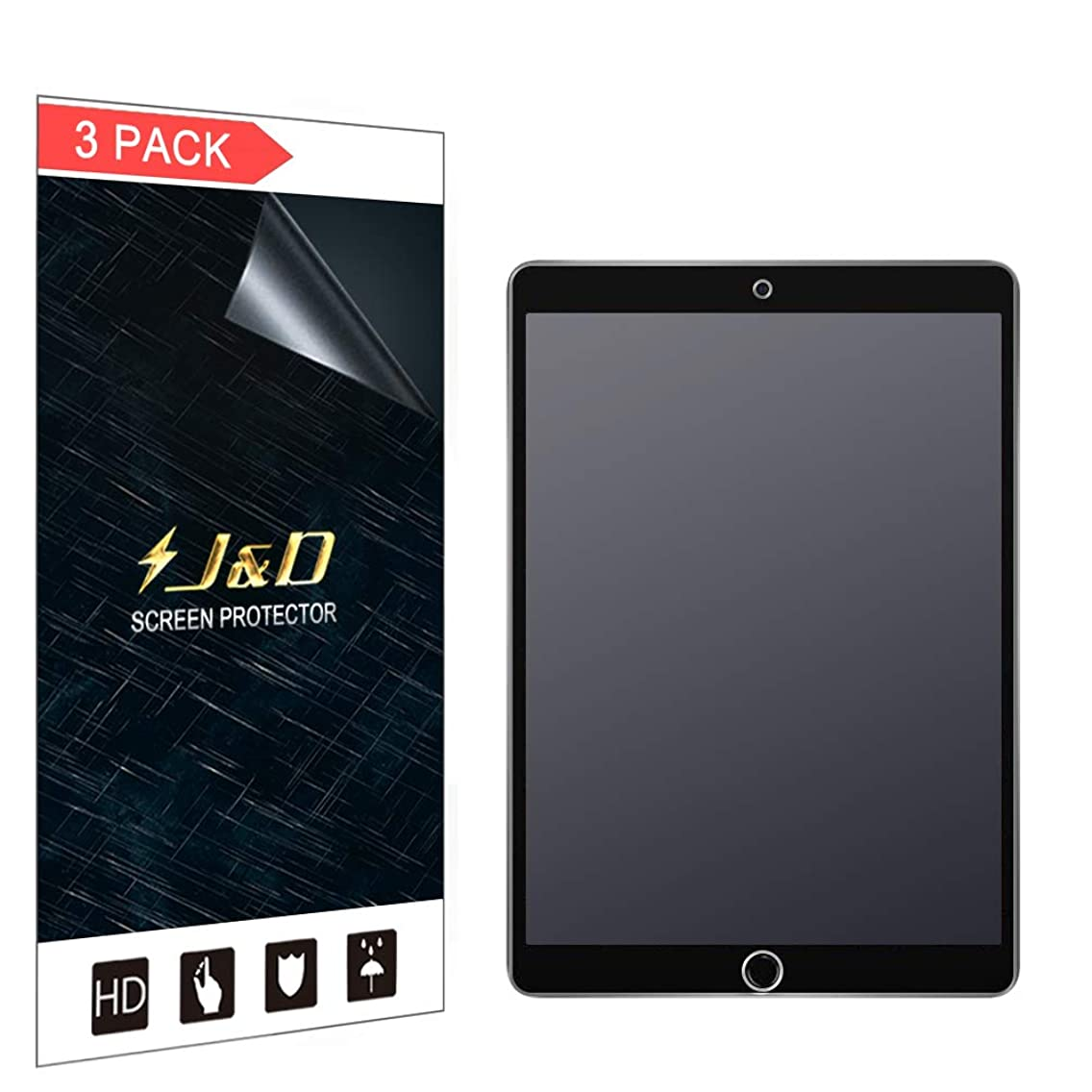 J&D Compatible for 3-Pack New iPad Air (2019) 10.5'' Screen Protector, [Anti-Glare] [Not Full Coverage] Matte Film Shield Screen Protector for Apple New iPad Air 10.5 inch 2019 Matte Screen Protector