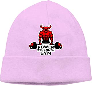 623f1563570 Unisex Beanie Hats Gym Fitness Weightlifting Cute Winter Keep Warm Knitted  Cap Skull Cap