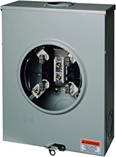 Square D by Schneider Electric UHTRS212B 200A Ringless Meter Socket With Horn Bypass (4-Jaw)