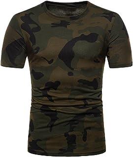 comprar comparacion Camiseta de Camuflaje Hombre Militares Camisetas Deporte Ropa Deportiva Camisa de Manga Corta de Camuflaje Slim fit Casual...