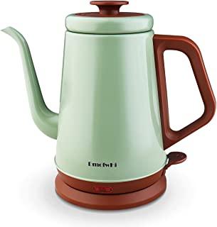 کتری برقی DmofwHi Gooseneck (1.0 لیتر) ، کلاسیک را روی قوری قهوه بریزید | چای چای - لاجوردی