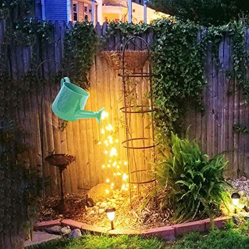 LED Popular Stars Shower Garden Fairy Lights, Garden Ornaments Utdoor Gardening Lawn Lamp Solar Led Light, Led Fairy Lights, Led Light with Watering Can Decor