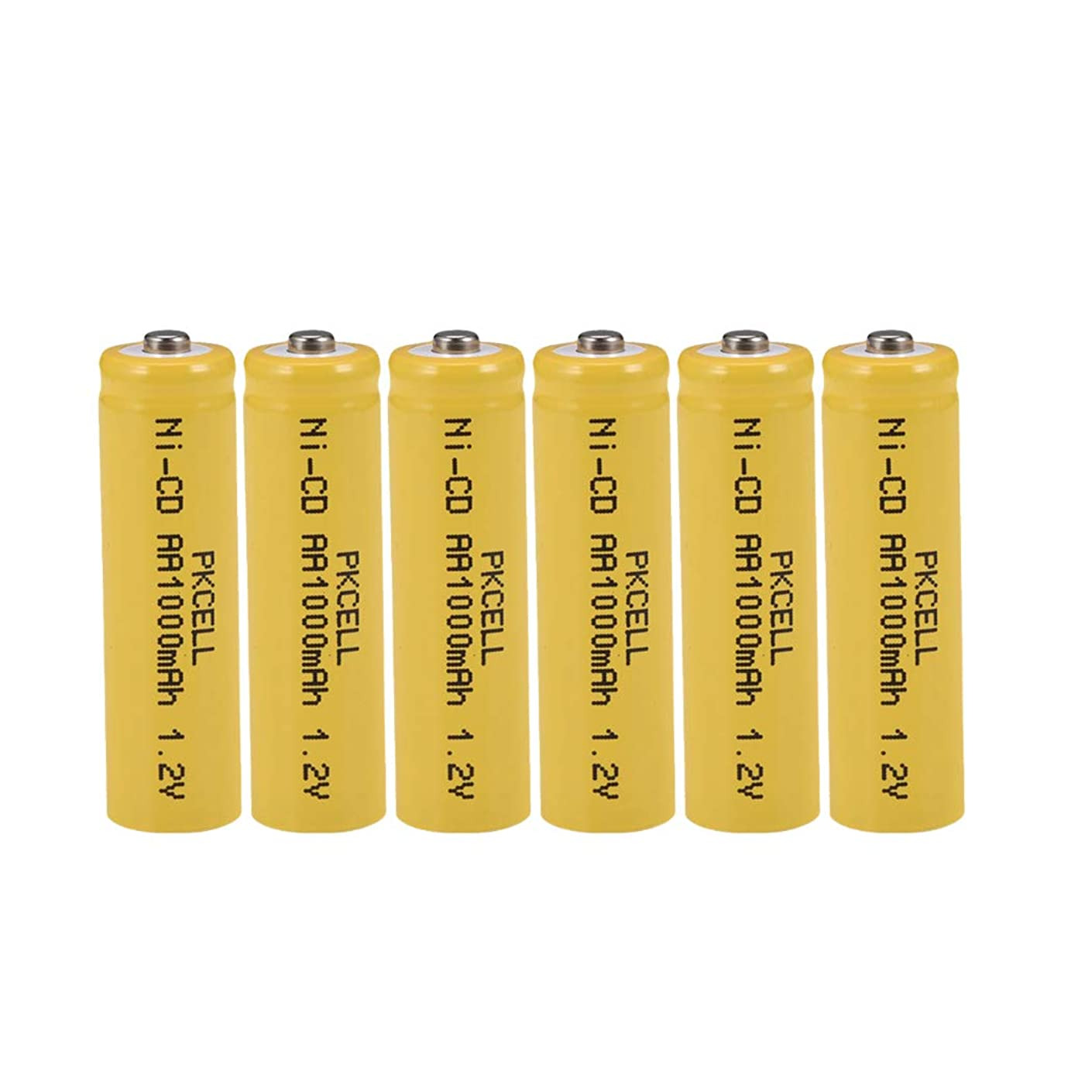 1.2v NICD AA Rechargeable Batteries 1000mAh for Solar/Garden Lights,6 Counts