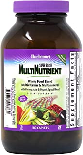 Bluebonnet Super Earth Multi-Nutrient Formula Iron Free Caplets, 180Count, White
