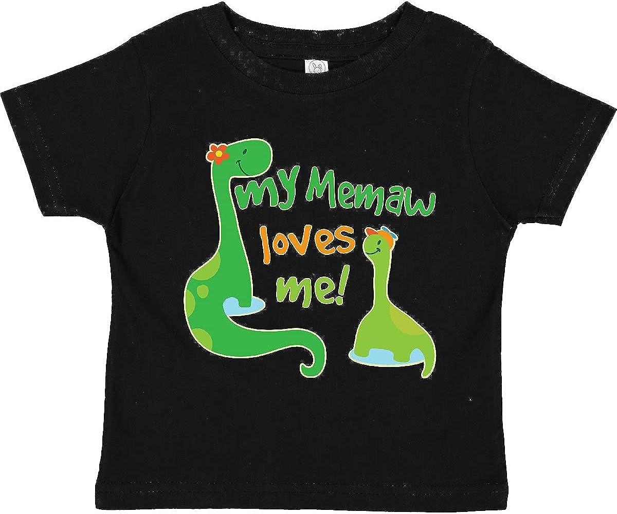 inktastic My Memaw Loves Me Grandson Gift Toddler T-Shirt