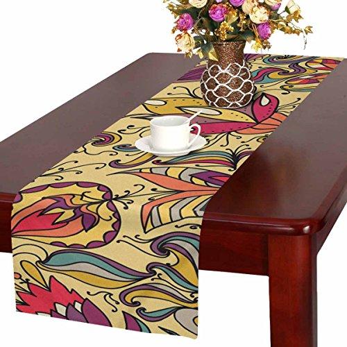 Zenzzle Camino de mesa, 40 x 183 cm, diseño de flores y pájaros