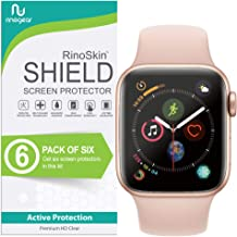 (6-Pack) Apple Watch 40mm Screen Protector (Series 5 or 4) RinoGear Case Friendly iWatch Screen Protector for Apple Watch Series 5, 4 40mm Accessory Full Coverage Clear Film