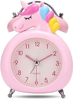comprar comparacion Lafocuse 10cm Despertador Infantil Unicornio Analógico con Doble Campana y Luz de Noche Reloj de Mesa Silencioso Gracioso ...