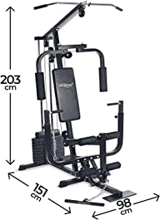 Nova - Estación de fitness multifuncional con máquina de caza, prensa para piernas, máquina pectoral, cable bajo, placas de peso 40 kg, máquina de gimnasio, multiestación de entrenamiento