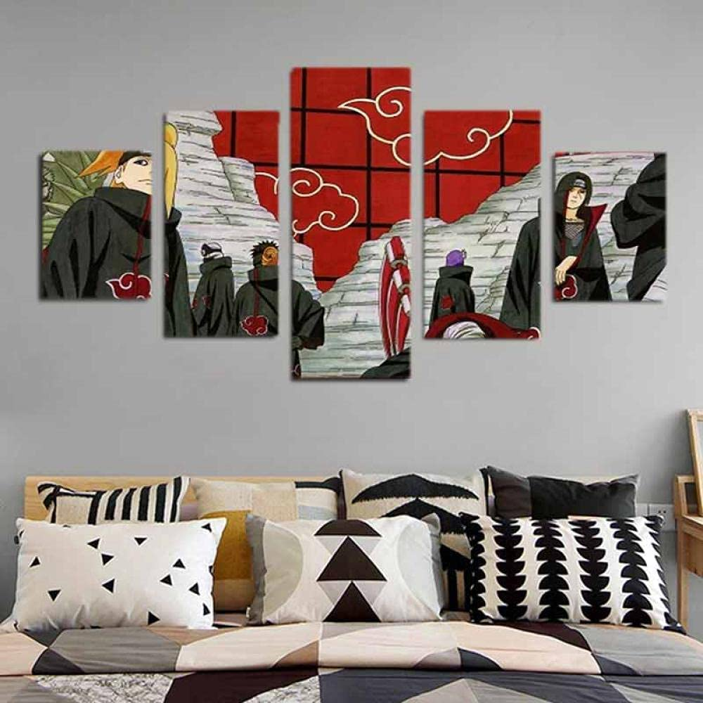 5 Naruto paintings Max 90% Finally popular brand OFF suitable for home of frameless decoration