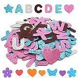 Letras Pegatinas de Espuma Autoadhesiva,Pegatinas de Letras Adhesivas Pegatina de Espuma Brillante Alfabeto Autoadhesivas de Letras
