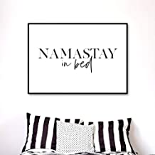 Namastay in Bed Printable, Bedroom Decor, Bedroom Printable, Namaste in Bed Print, Yoga Decor Bedroom, Modern Wall Art, Above Bed Decor Frame