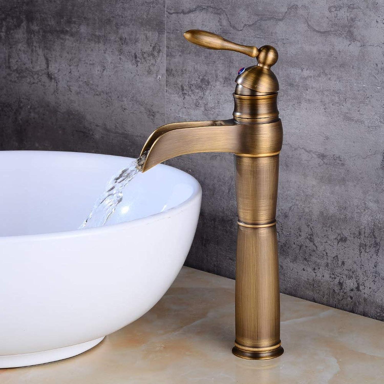 SCJS Wasserhahn Europischen Wasserfall Wasserhahn Bad Erhhen über Aufsatzbecken Wasserhahn Waschbecken heies und kaltes Wasser Wasserhahn