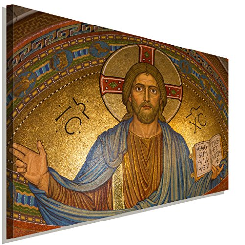 Jesus Christus Leinwandbild LaraArt Bilder Wanddeko Wandbild 120 x 80 cm