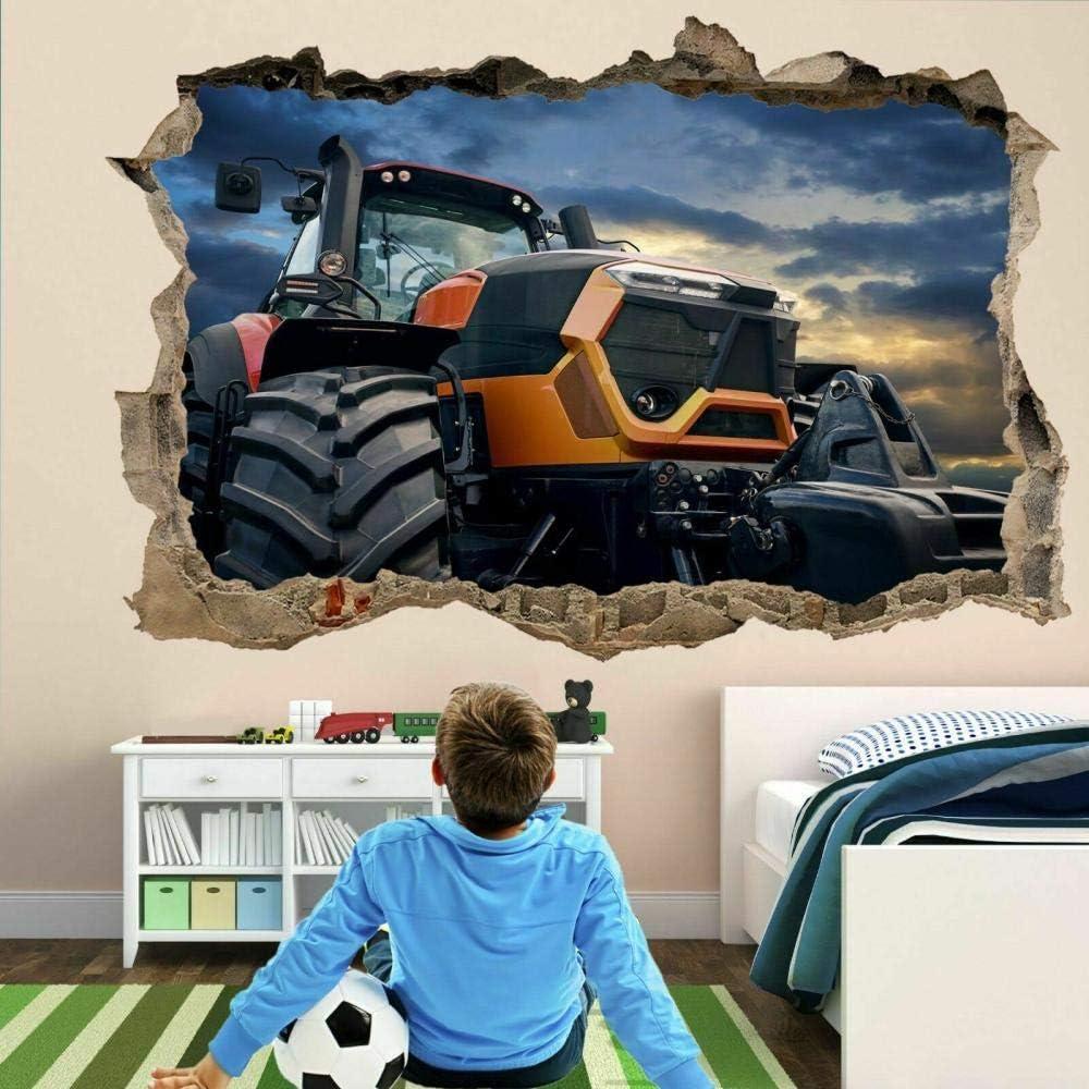 Outstanding GTRB Wall 4 years warranty Sticker Tractor Kids Decal Bedroom Mural