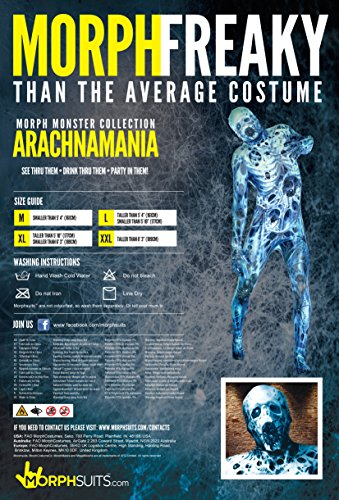 Morphsuits Official Adults Arachnomania Spider Web Monster Fancy Dress Costume