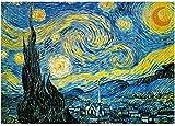 CHengQiSM Puzle de 2000 piezas para adultos Jigsaw – Van Gogh – The Starry Night – Puzzle de 2000 piezas para adultos y niños a partir de 14 años, multicolor, 100 x 70 cm