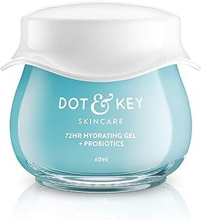 Dot & Key 72 HR HYDRATING GEL + PROBIOTICS 60 ml, with Hyaluronic Acid, Kombucha & Rice Water, Oil-Free, Non Comedogenic, ...