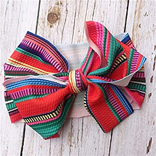 FairOnly Baby Girls Bow Hairband Turban Knot Headband Girl Headwear Newborn Girl Turban Hairband Colorful Strip for Kids Baby