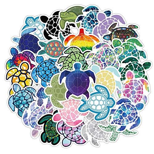 JZLMF 41 pegatinas de tortuga marina para maleta, nevera, cuaderno, dibujos animados, juguetes infantiles