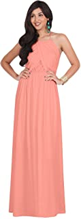 Womens Long Sleeveless Bridals Summer Beach Floor-Length Gowns Wedding Maxi Dress