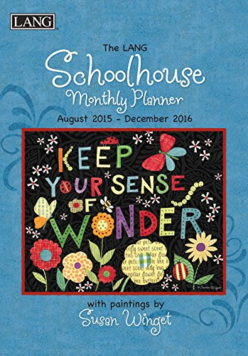 Lang Schoolhouse 2016 Monthly Planner by Susan Winget, August 2015 to December 2016, 8.25 x 12 Inches (1012102)